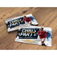 Manchester United Cristiano Ronaldo Personalised Birthday Party Invitations