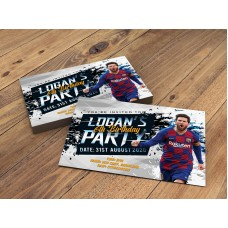 Barcelona Personalised Lionel Messi Birthday Party Invitations