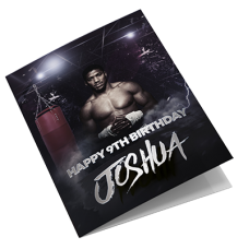 Anthony Joshua Personalised Boxing Birthday Card