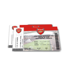 Arsenal Birthday Party Personalised Invitations