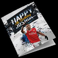 Arsenal Personalised Birthday Card