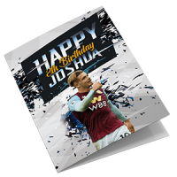 Aston Villa Personalised Birthday Card