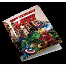 LEGO Superhero Personalised Birthday Card