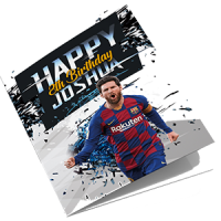 Barcelona Personalised Lionel Messi Birthday Card