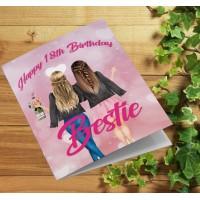 Bestie BFF Personalised Birthday Card
