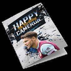 Burnley Football Birthday Card