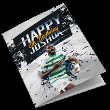 Personalised Celtic Football Birthday Card