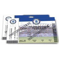 5 Chelsea Football Birthday Party Invitations