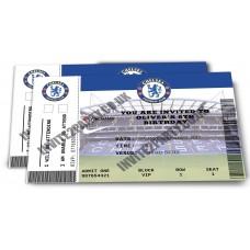 5 Chelsea Football Birthday Party Invitations