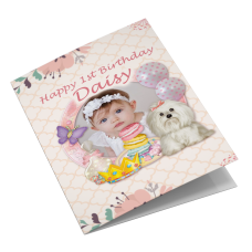 Baby's Personalised Birthday Photo Card