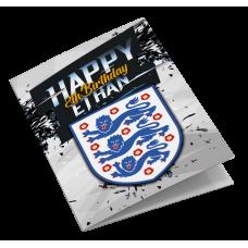 England Personalised Football Birthday Card