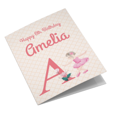 Ballet Girl Personalised Birthday Card For Daughter, Granddaughter, Sister