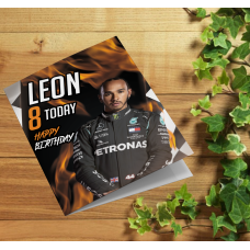 Formula One Lewis Hamilton Personalised Birthday Card
