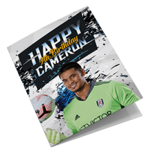 Personalised Fulham FC Birthday Card
