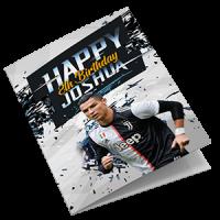 Cristiano Ronaldo Juventus Personalised Birthday Card