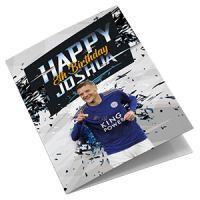 Personalised Leicester City Football Club Birthday Card