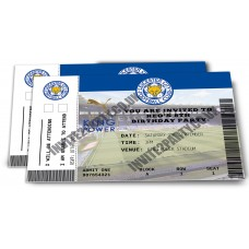 "Leicester City Personalised Football Birthday Invitations x5 (Size 4x6"")"