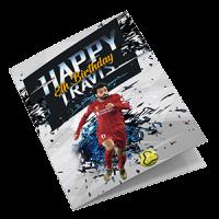 Liverpool Personalised Birthday Card