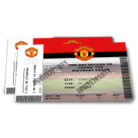 Manchester United Personalised Birthday Party Invitations