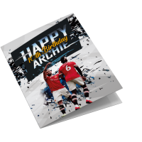 Manchester United Personalised Birthday Card