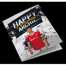 Manchester United Cristiano Ronaldo CR7 Personalised Birthday Card