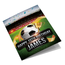 Manchester United Old Trafford Personalised Birthday Card
