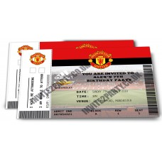 """5 Manchester United Football Invitations (Size 4x6"""")"""