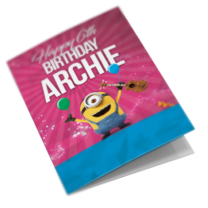 Minions Personalised Birthday Card For Son, Brother, Grandson