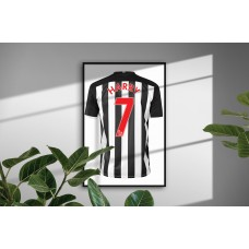 Newcastle United Personalised Bedroom Wall Art Poster Print