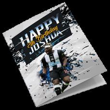 Newcastle United Personalised Football Birthday Card