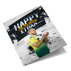 Norwich City Personalised Birthday Card