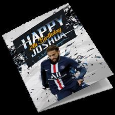 PSG Neymar Football Birthday Card