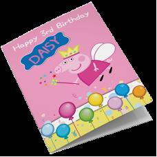Peppa Pig Personalised Girls Birthday Card