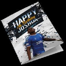 Glasgow Rangers Personalised Football Birthday Card