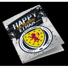 Scotland Personalised Birthday Card