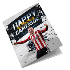 Sheffield United Personalised Birthday Card
