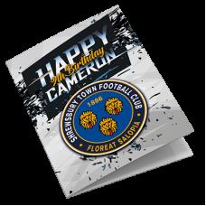 Shrewsbury Town FC Personalised Birthday Card