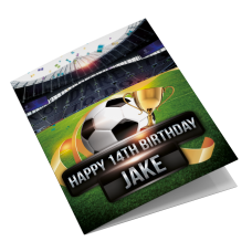 Spurs Personalised Birthday Card
