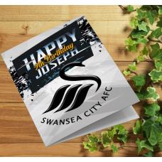 Swansea City Personalised Birthday Card