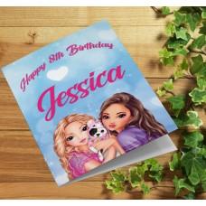 Top Model Personalised Girls Birthday Card