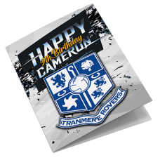 Tranmere Rovers Personalised Football Birthday Card