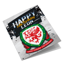 Wales Personalised Football Birthday Card