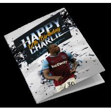 West Ham United Personalised Birthday Card